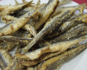Batter fried anchovies