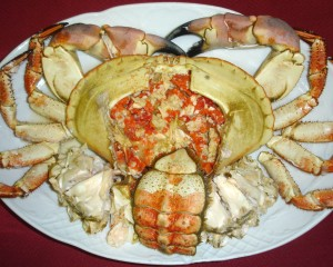 Buey de mar (crab)
