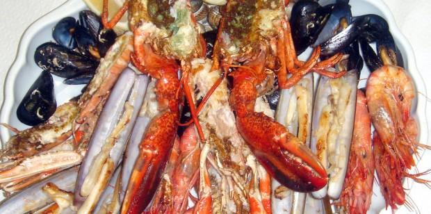 Shellfish platter for 2