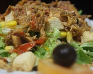 Salade de perdrix à l'escabèche